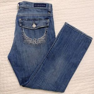 Rock & Republic Kendall Cuffed Capri Jeans